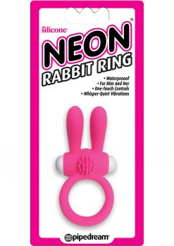 Neon Silicone Rabbit Ring Waterproof Pink