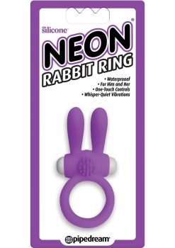Neon Silicone Rabbit Ring Waterproof Purple