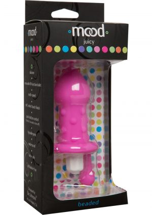 Mood Juicy Beaded Silicone Plug Waterproof Pink 4.9 Inch