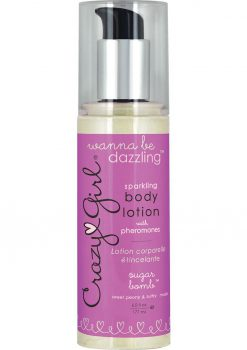 Crazy Girl Sparkling Body Lotion With Pheromones Sweet Peony and Sultry Musk 6 Ounce