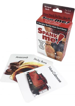 Spank Me Naughty Go-Fish Style Card Game