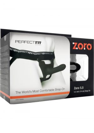 Perfect Fit Zoro Strap On With Elastice Waistband Black 5.5 Inch