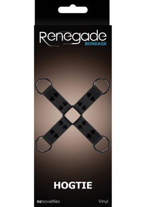 Renegade Bondage Vinyl Hogtie Black