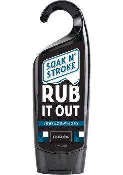 Soak N Stroke Rub It Out Shower Masturbation Cream 8 Ounce