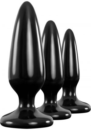 Renegade Trainer Kit Anal Plugs Black 3 Piece