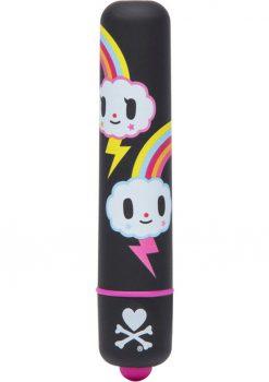 Tokidoki Mini Vibe Bullet Single Speed Rainbow Waterproof Black