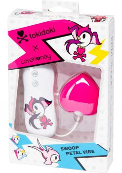 Tokidoki Swoop Petal Vibe Wired Remote Silicone Clitoral Vibe Waterproof Pink