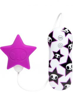 Tokidoki Star Petal Vibe Wired Remote Silicone Clitoral Vibe Waterproof Purple
