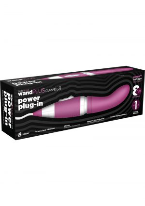 Bodywand Wand Plus Curve G8 Power Plug-In Vibe Silicone Purple
