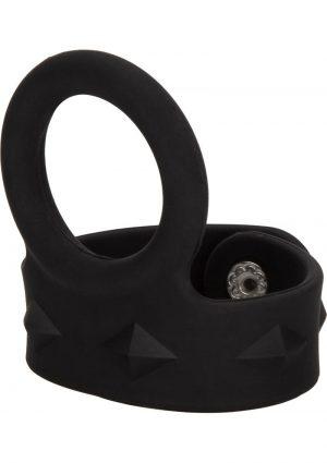 Silicone Tri-Snap Scrotum Support Ring Medium Black