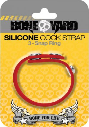 Boneyard Silicone Ball Strap 3 Snap Ring Red