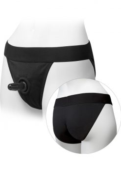 Platinum Edition Vac U Lock Ultra Harness With Plug Full Back Black Small/Medium 26 to 45 Inch Hips