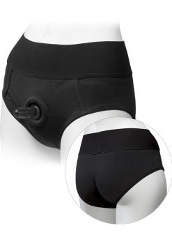 Platinum Edition Vac U Lock Ultra Harness With Plug Briefs Black Small/Medium 26 to 33 Inch Hips
