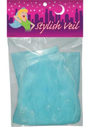 Stylish Bachelorette Veil Blue