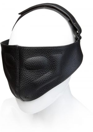 Kink Leather Blinding Mask Adjustable Black