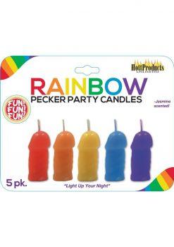 Pecker Party Candles Asst Color 5pk