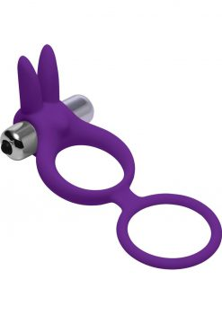 Frisky Throbbing Hopper Cock And Ball Ring With Vibrating Clit Stimulation Silicone Purple