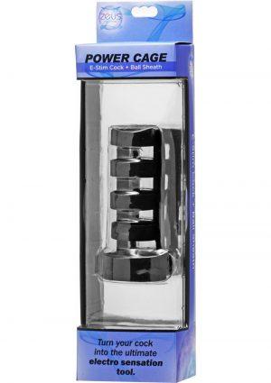 Zeus Electorsex Power Cage E-Stim Cock And Ball Sheath Black