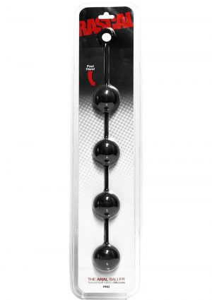 Rascal The Anal Baller Professional Silicone Anal Beads Black 21 Inch