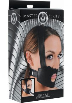 Master Series Face Fuk II Dildo Face Harness Black