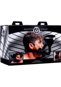 Master Series Latrine Extreme Funnel Gag Black