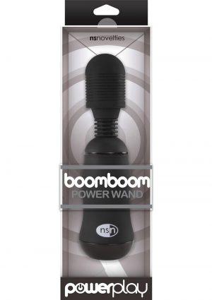 Power Play Boomboom Power Wand Massager Black