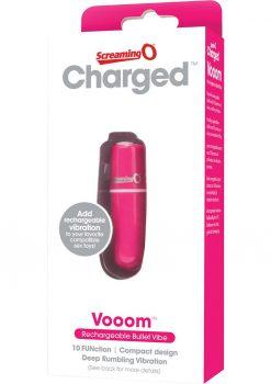 Charged Vooom Rechargeable Bullet Vibe Waterproof Pink