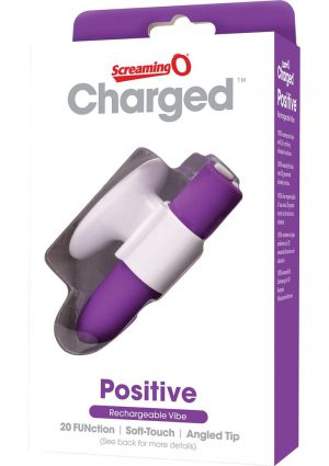 Charged Positive Rechargeable Vibe Waterproof Purple