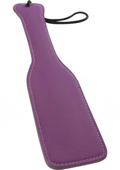 Lust Bondage Leather Paddle Purple