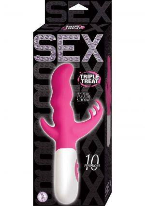 Sex Triple Threat Silicone Vibe Pink