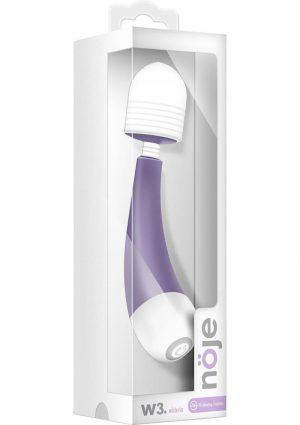 Noje W3 Silicone USB Rechargeable Mini Massagers Waterproof Wisteria Purple