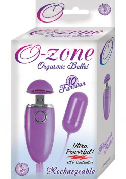 Ozone Rechargeable Orgasmic Bullet Waterproof Purple