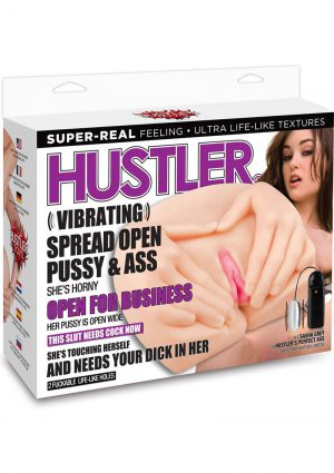 Hustler Vibrating Spread Open Pussy and Ass