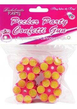 Bachelorette Party Pecker Party Confietti Gun Refills 4 Each Per Pack