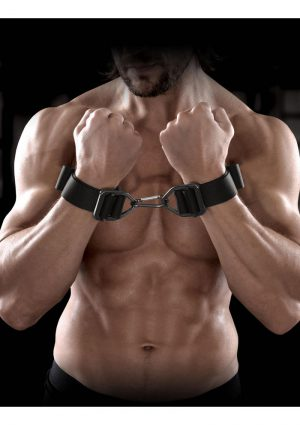 Sir Richard's Command Heavy Duty Cuffs Black And Stainless Steel