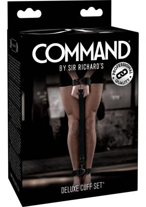 Sir Richard's Command Deluxe Cuff Set Black And Stainless Steel