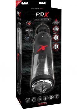 PDX Elite Deluxe Mega-Bator Rechargeable Thrusting Masturbator Waterproof Black