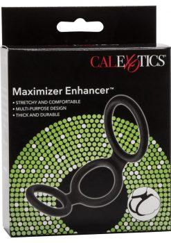 Maximizer Enhancer Silicone Erection And Scrotum Enhancer Cock Ring Black