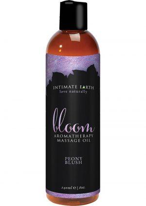Intimate Earth Aromatherapy Massage Oil Peony Blush 8 Oz