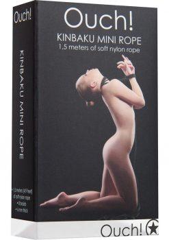 Ouch! Kinbaku Nylon Mini Rope Black 1.5 Meters