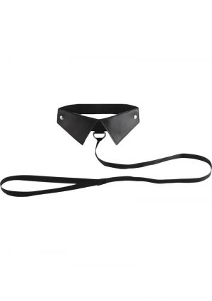 Ouch! Classic Collar With Leash Black