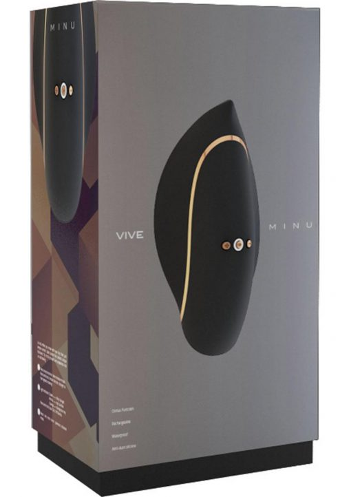 Vive Minu Silicone USB Rechargeable Lay-On Vibrator Waterproof Black