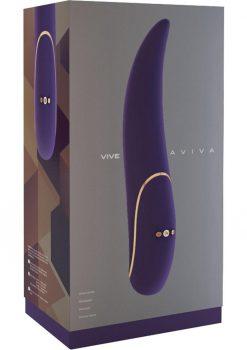 Vive Aviva Silicone USB Rechargeable Vibrator Waterproof Purple