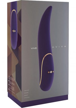 Vive Aviva Silicone USB Rechargeable Vibrator Waterproof Purple
