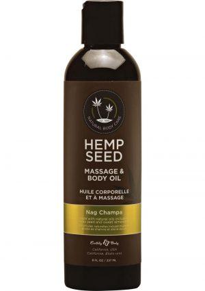 Hemp Seed Moisturizing Oil Spray Nag Champa 8 Ounces