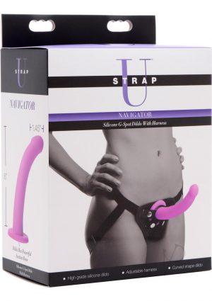 Strap U Silicone Gspot Dildo With Harness