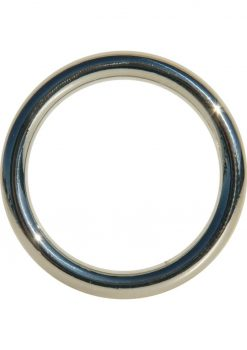 Edge Seamless O-Ring Metal Cockring Silver 1.75 Inch Diameter