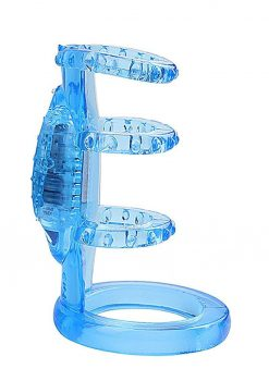 Doctor Loves Zinger Vibrating Cage Blue