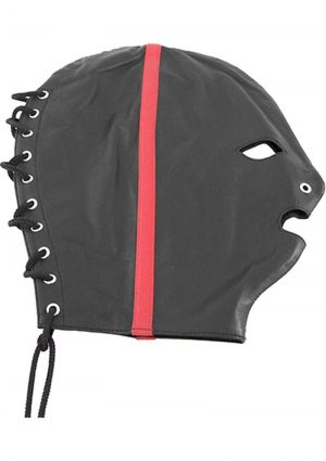 Rouge Leather Mask Black And Red