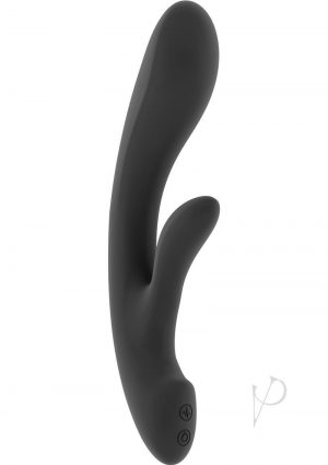 Jil Ava Flexible Silicone USB Rechargeable Rabbit Vibrator Waterproof Black 8.6 Inch